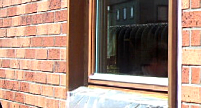 木製窓のDIY塗装後
