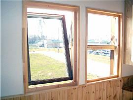 くるっと回して外側のガラス窓もお掃除楽々